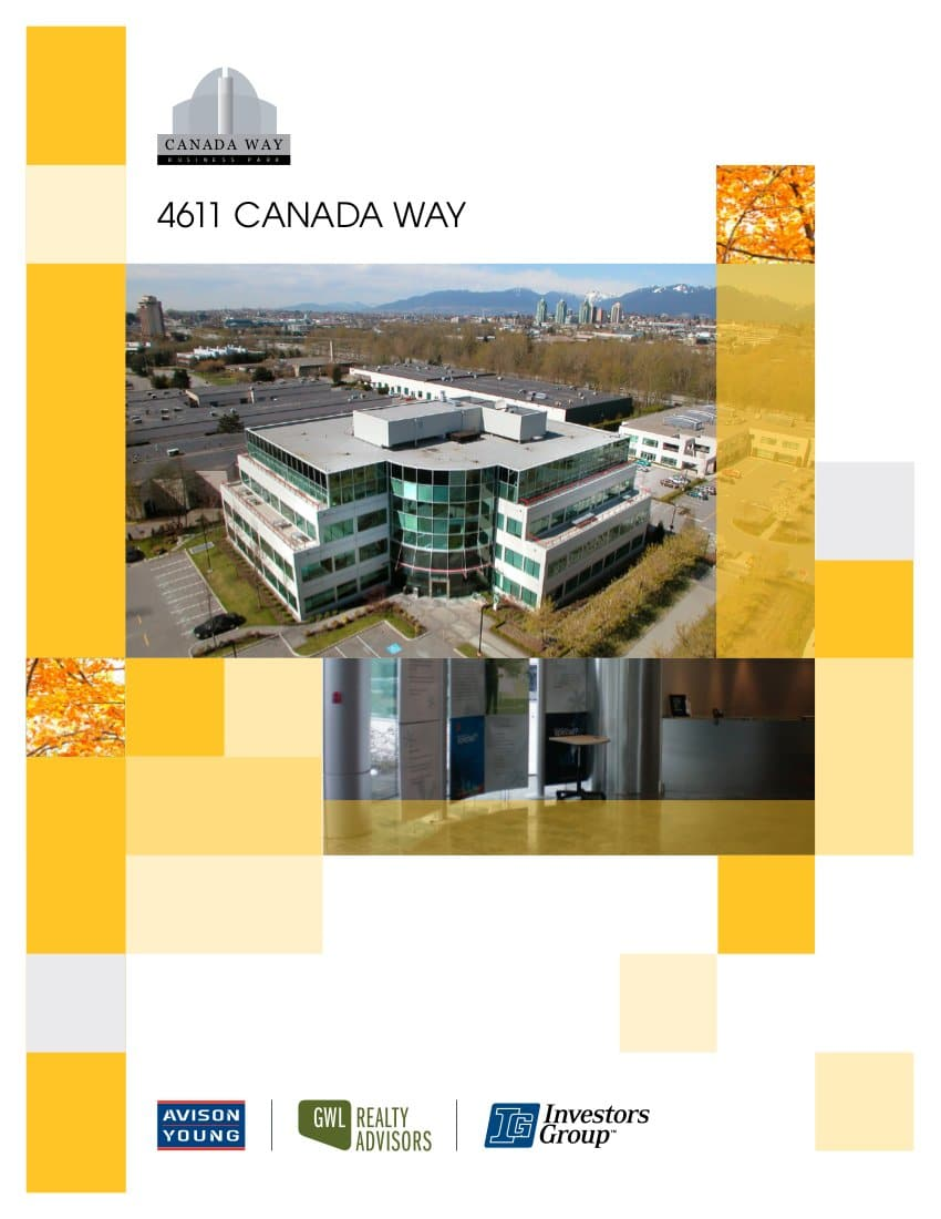 Avison Young brochre created with the property's custom branding